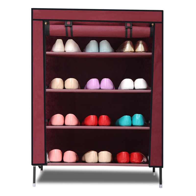 Five layer simple shoes cabinet
