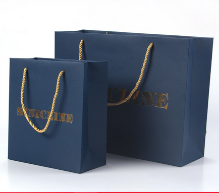 Sinicline Free Design Shopping Paper Bag with Foil Stamping Logo
