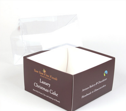 Sinicline custom luxury Christmas cake box packaging