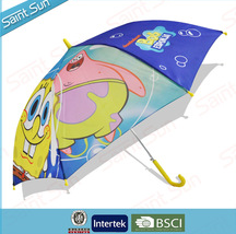 Cute and Novetly Cartoon transfer-printing Kids Umbrella wholesale from BSCI factory