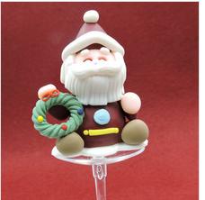 santa cake picks