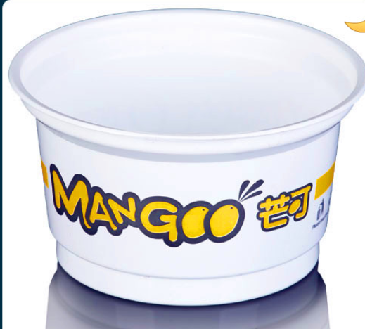 6oz7oz white plastic saucer ice cream container pp custom printing