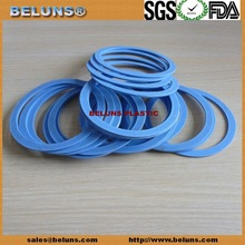 Bule Color Flat PTFE Gasket, Reinforced PTFE Washer, White PTFE Gasket for flange