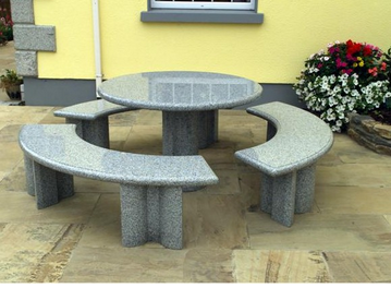 Stone Garden Table Set