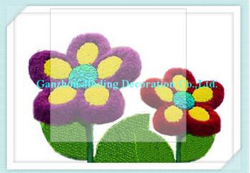 cartoon flowers topiary