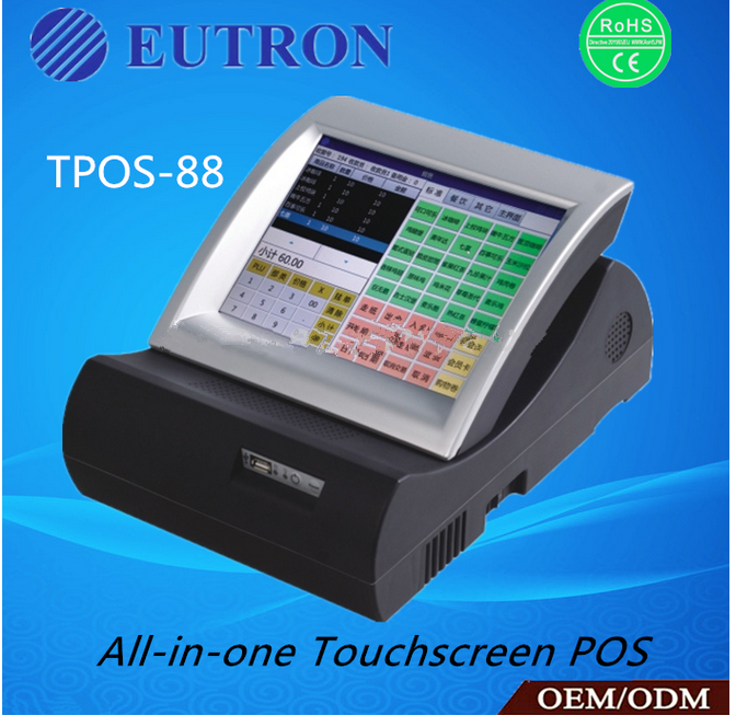 slide display all in one touch screen POS terminal, pos system