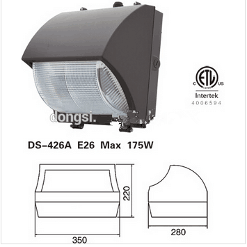 2015 NEW 30W water-proof LED wall pack housing ETL listed