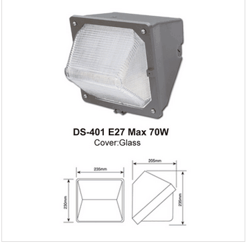 LED outdoor aluminium wall light housing,led wall pack housing