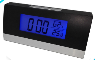 Sunny GP3193 LCD Table Manual Digital Alarm Clock With Humidity And Temperature Display