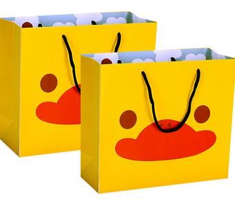 New product Custom printed cartoon kid paper bag