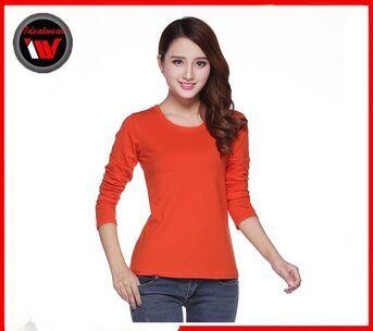 Long sleeve t shirt women, custom design wholesale clothing, thailand wholesale clothing