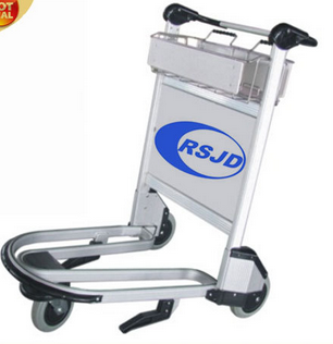 3 wheels aluminum airport baggage trolley