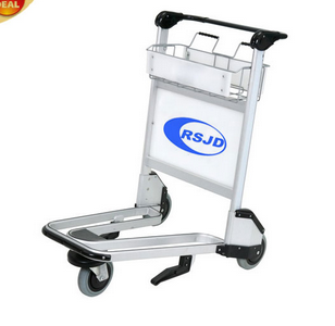 Without brake hand pull stainless steel airport trolley