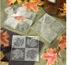 Maple Leaf Glass Coaster