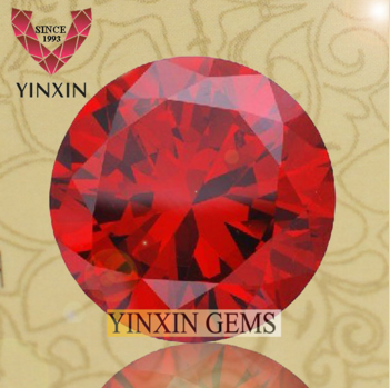 Garnet Cubic zirconia Brilliant Round Cutting