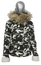 ALIKE women jacket camoflage jacket hoodie winter jacket