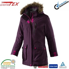women ski jacket zippers