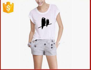 loose new design t shirt cheap screen printig t shirts for women