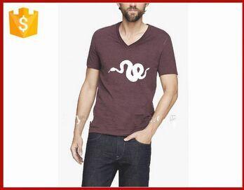 v-neck custom printing tshirt for men free t shirts