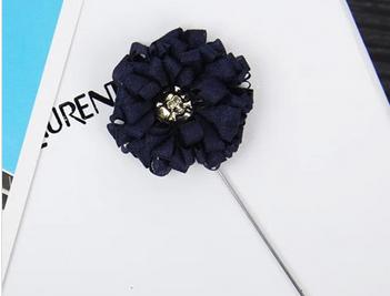 Lates Design Fashion Handmade long needle men's suits lapel flower pin