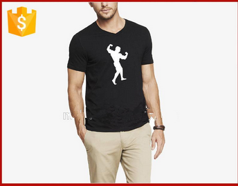 100% cotton sport mens t-shirt with o-neck t shirts