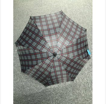 Custom Design straight plaid umbrella