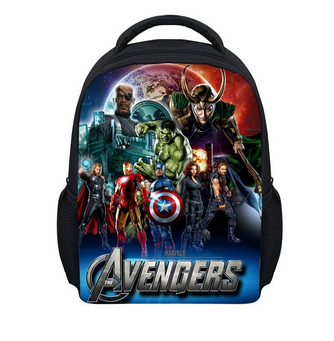 12 Inch Small Kids Cartoon Spider Man Backpack,Boys Superman Spiderman School Backpacks Bags,New Children Avengers Baby Backpack