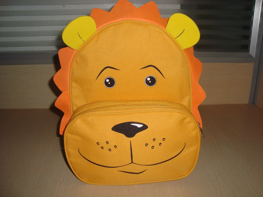 Animal Bag for Kids, Animal Backpack, Lion Backpack, Bag in Animal Shape