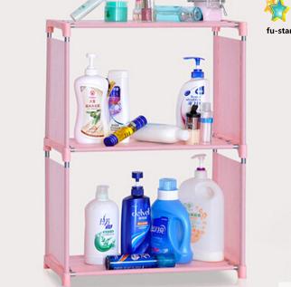 PN Decorative kids storage cabinets metal shelf non-woven cover bookcase
