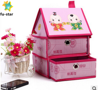 PN daily organizer foldable collapsible cube wholesale cheap closets fabric makeup storage box