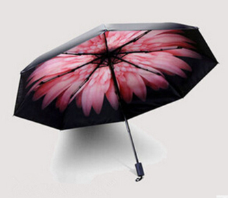 PN newest design flower inside good price convenient promotional cheap 3 folding umbrella