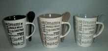 stoneware hand printed ceramic coffee mugs