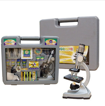 Children metal microscope with deluxe packaging