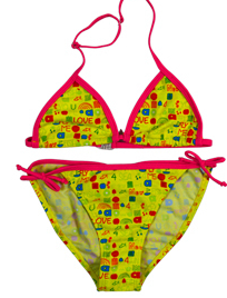 China wholesale children cute printed micro bikini