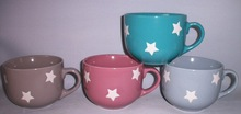 factory design printed star ceramic mugs