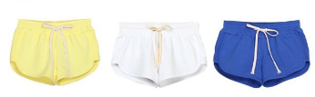 2015 wholesale comfortable 100% cotton women running shorts