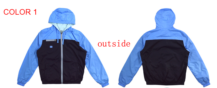 fashion mens spring double face nylon jacket