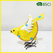 YS14832 yellow bird handicraft modern art metal craft for home decor