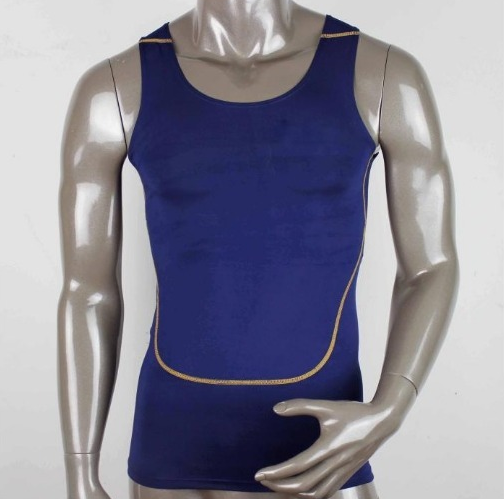 man's compression tank top,man's plain compression vest,fitness running vest