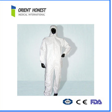 Anti-bacteria white coverall for food factory