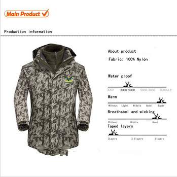 2014 OEM Chian custom outdoor camouflage jacket