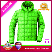 Green colour life light softshell down jacket