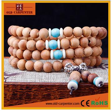 Religious Tibetan women men Barbie sandalwood 108pcs natural scented buddha bead custom bracelet