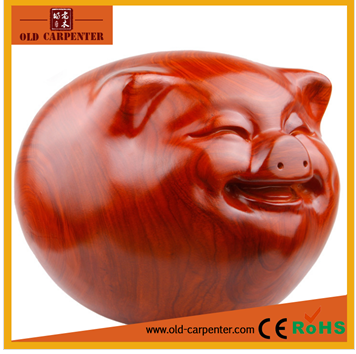 Rosewood money drawing pig wood carving statue for decorations home