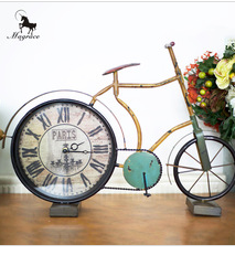 Antique Europe Bicycle round clock