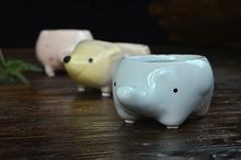 animal porcelain flower pot fashion crafts