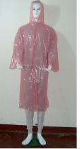 Disposable raincoat (EN ISO 13485 approved)