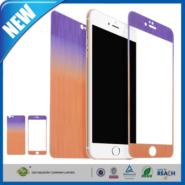 iPhone 6 / Plus Cell Phone Screen Protector Front Back Mirror Tempered Glass Film