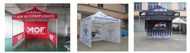 Advertising Large outdoor canopies
