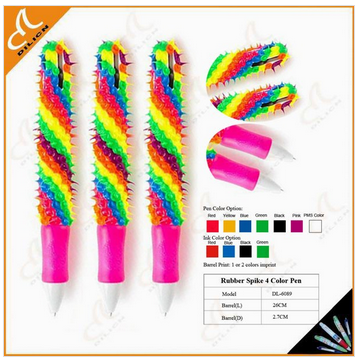 Original Rubber Spike giant 4 Color Pen